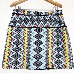 Loft Southwest Print Textured Mini Skirt